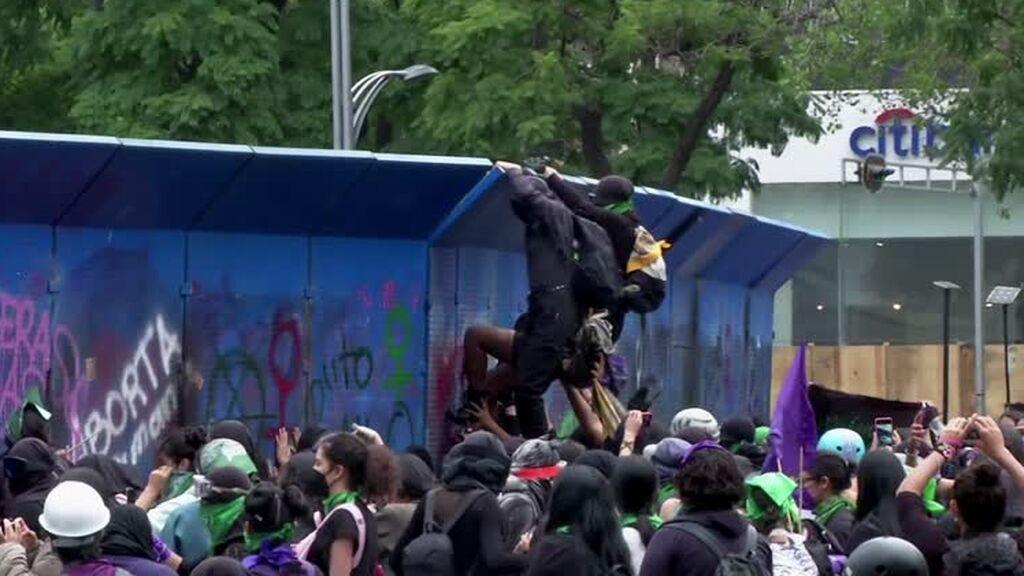 Cerca de 40 heridos en los disturbios durante una marcha a favor del aborto en Ciudad de México