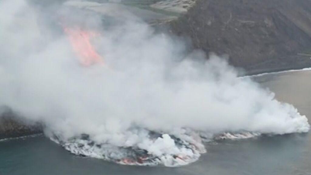 Volcán de La Palma: el impacto de la lava en el mar amenaza a la fauna marina