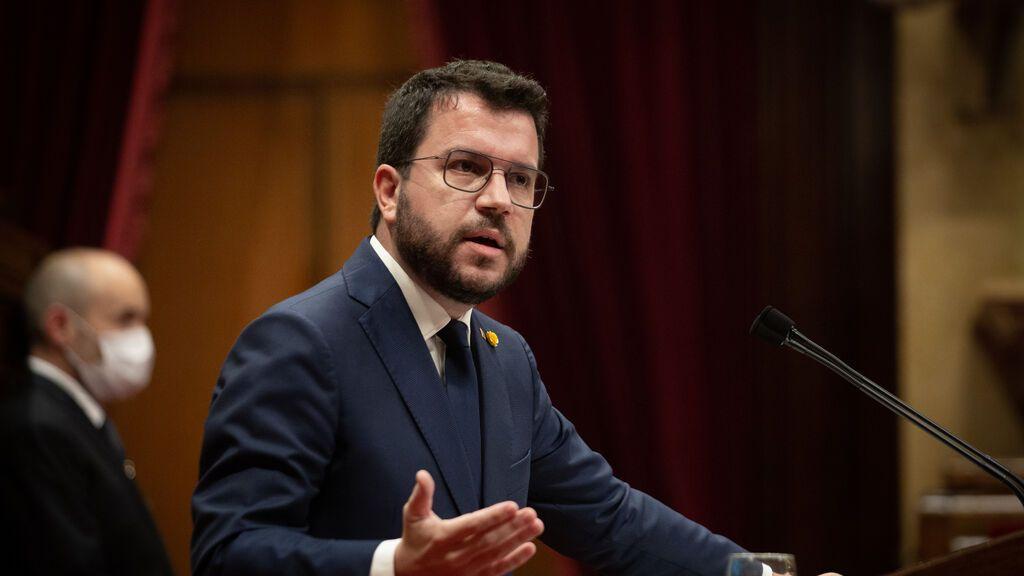 """Aragonès pide a la CUP ceñirse al pacto que no incluye """"fechas concretas"""" para un referéndum"""