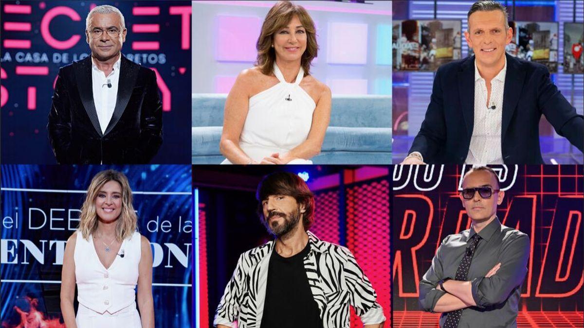 Mediaset España lidera septiembre con el mejor perfil de la televisión española