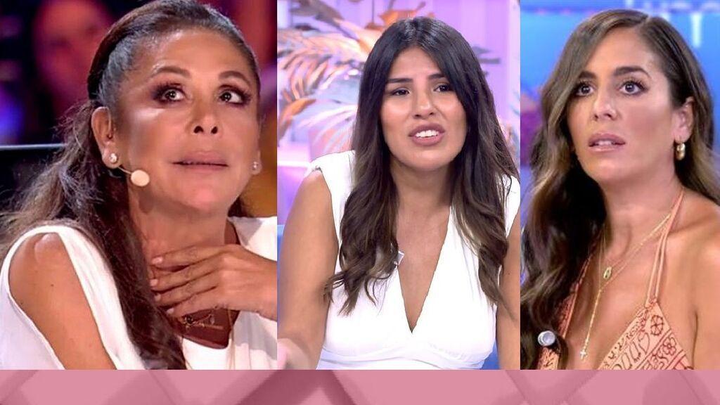 Isabel Pantoja, arropada por su hija Isa, Anabel y Raquel Bollo en Cantora