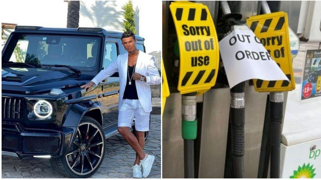 La crisis de la gasolina en Reino Unido golpea a Cristiano: su staff aguarda hasta 8 horas en gasolineras para conseguir suministro