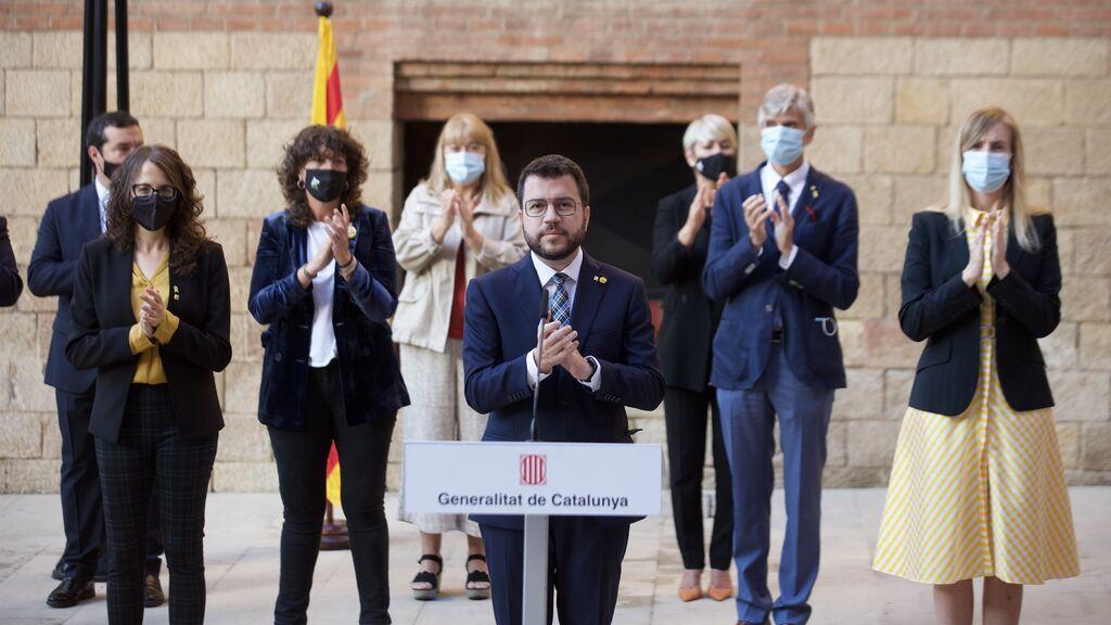 """Aragonès pide unidad en el cuarto aniversario del 1-O y dice que """"Catalunya volverá a votar"""""""
