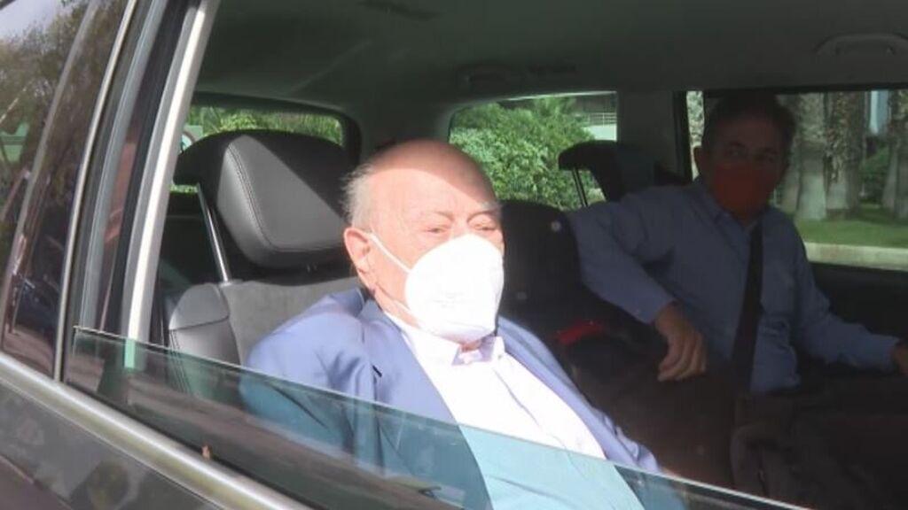 Jordi Pujol sale del hospital