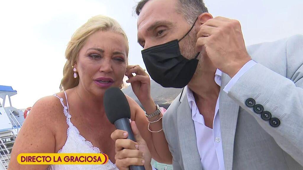 La llegada de Belén Esteban a la boda de Anabel Pantoja