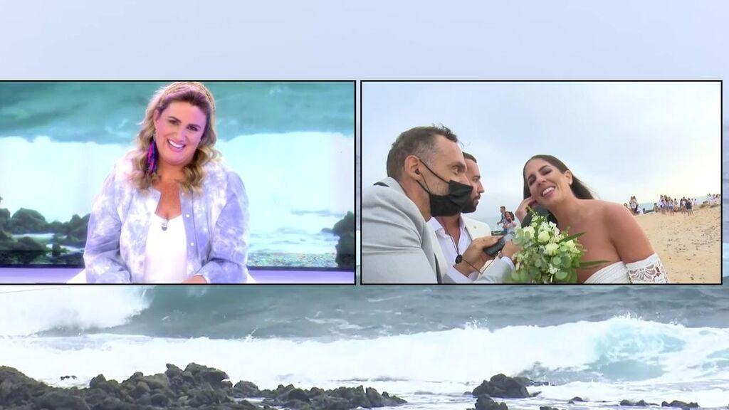 """El mensaje de Anabel Pantoja para 'Sálvame' en directo: """"Aquí está el ramo, aquí estáis vosotros"""""""