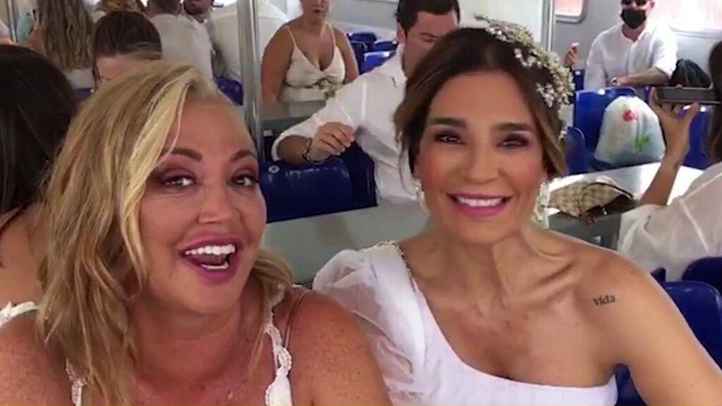 El look de los invitados de la boda de Anabel Pantoja: ¡Todos de blanco!