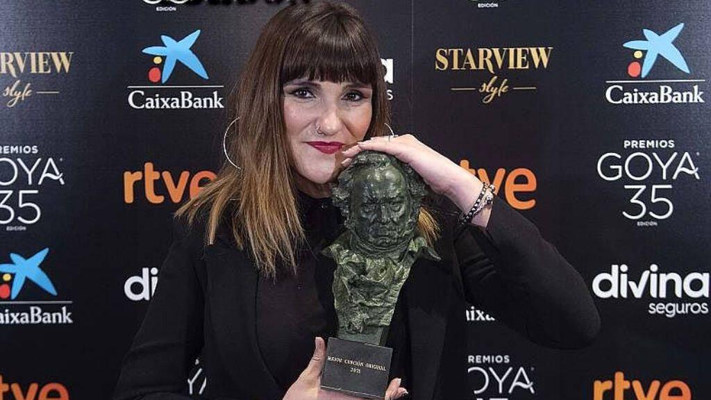 Rozalén, con su premio Goya a la mejor canción original