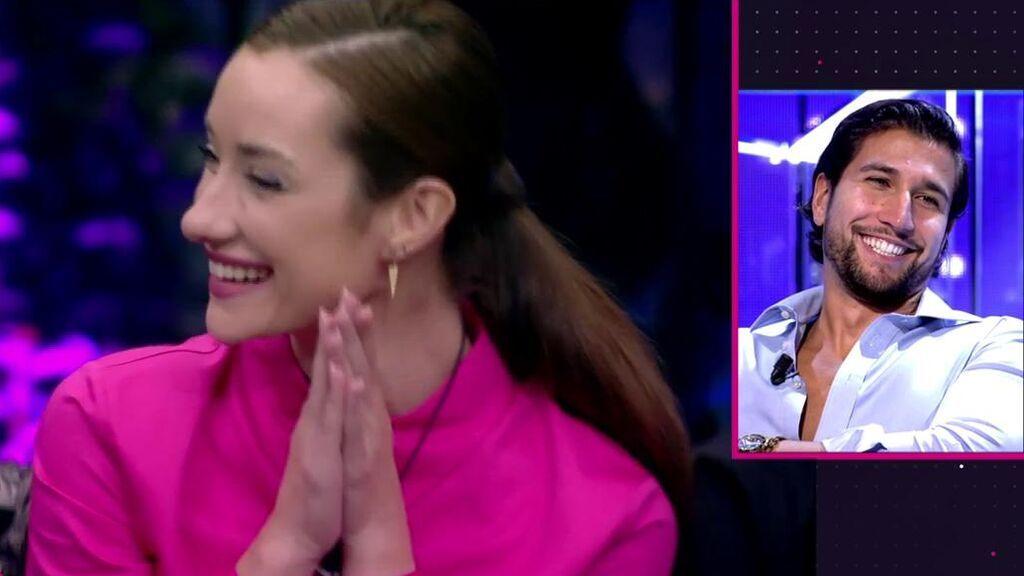 """El intercambio de halagos entre Gianmarco y Adara, entre risas nerviosas: """"Es la más guapa de la casa"""""""
