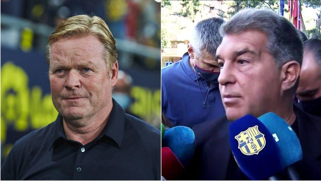 "Laporta ratiifa a Koeman antes del Atleti-Barça: ""Continuará siendo entrenador del Barcelona"""