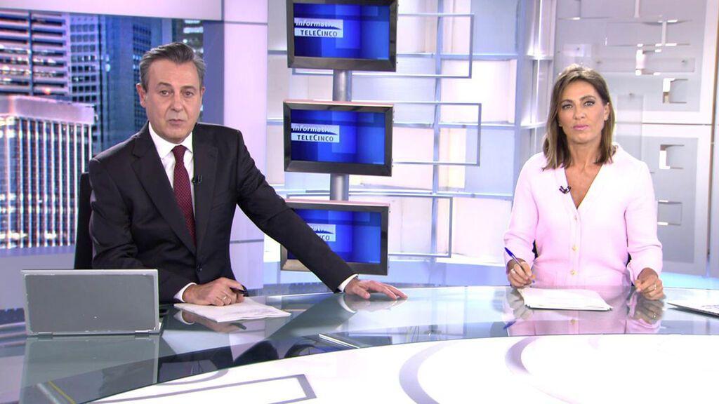 Con José Ribagorda y Ángeles Blanco Informativos Telecinco 2021 Noche 03/10/2021