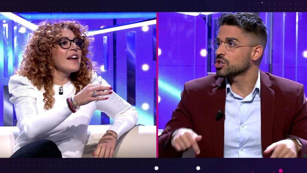 """El zasca de Sofía Cristo a Miguel Frigenti que termina en enfrentamiento: """"¿Qué te importa a ti?"""""""