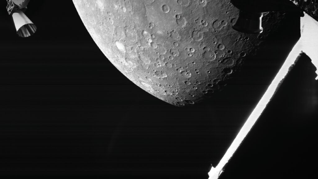 Estas son las primeras imágenes de Mercurio enviadas por la misión BepiColombo