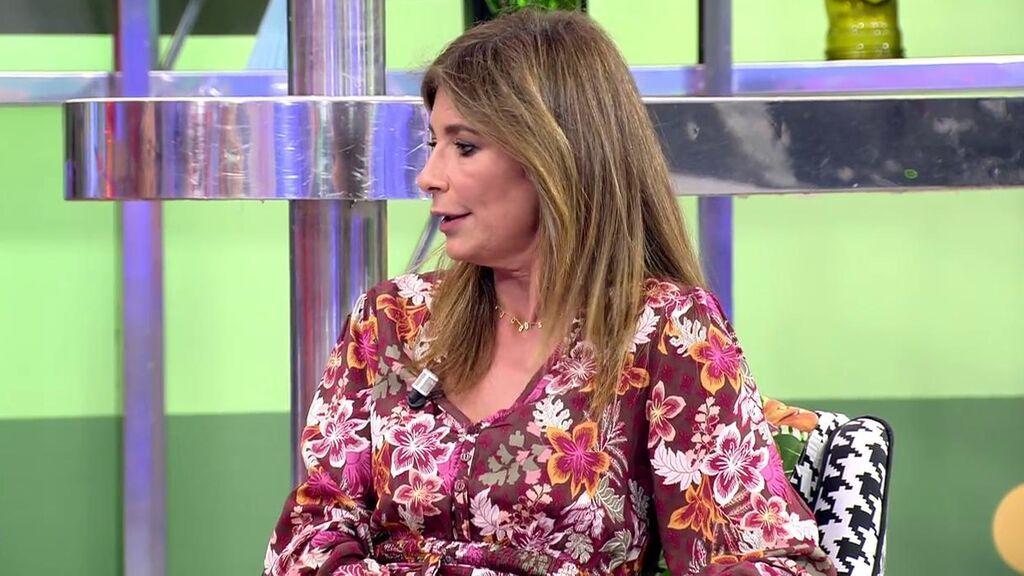 Gema López, en el plató de 'Sálvame'