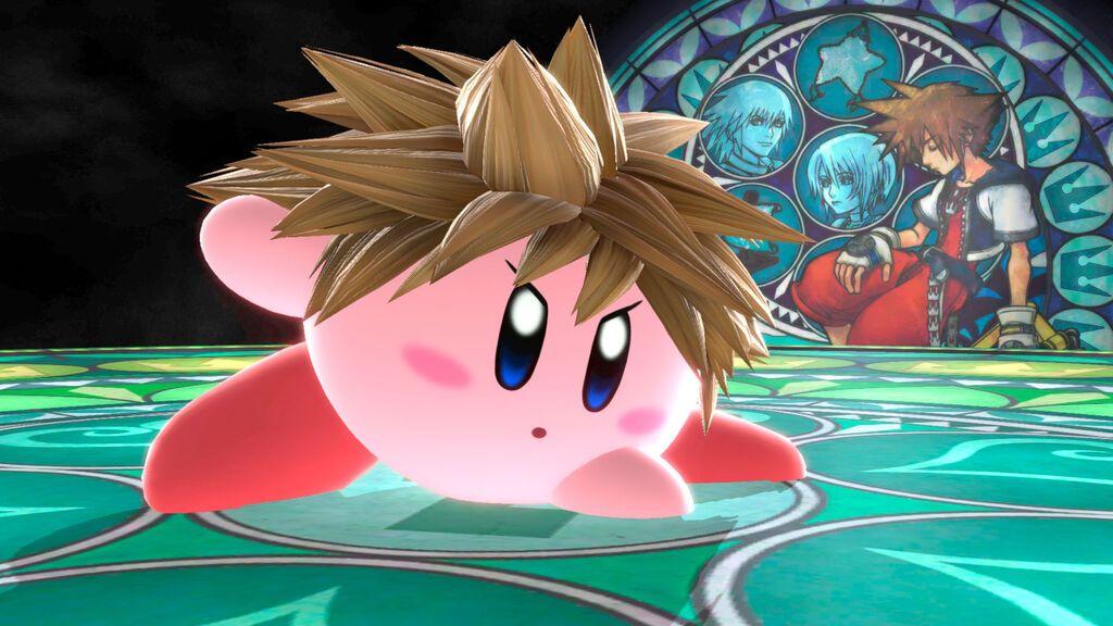 Así se queda Kirby después de tragarse a Sora en Super Smash Bros. Ultimate