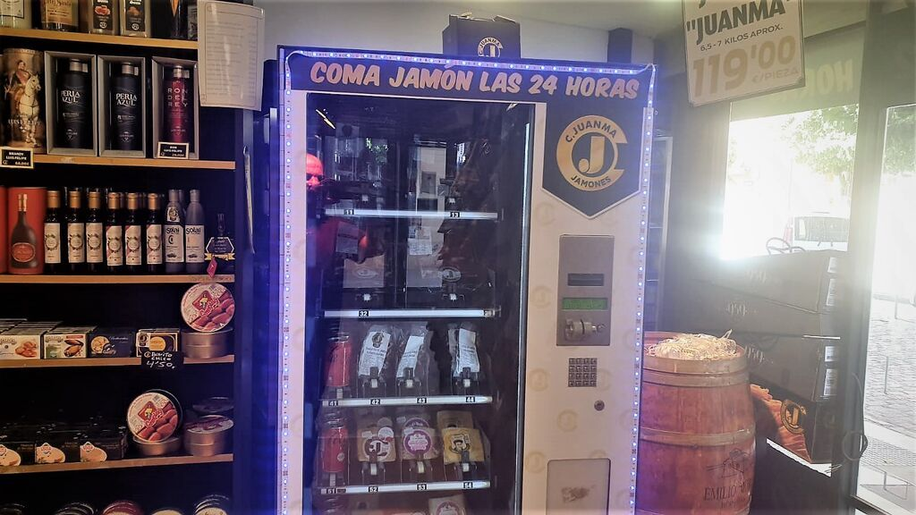 Jamón las 24 horas, Huelva cuenta con la única máquina expendedora de pata negra