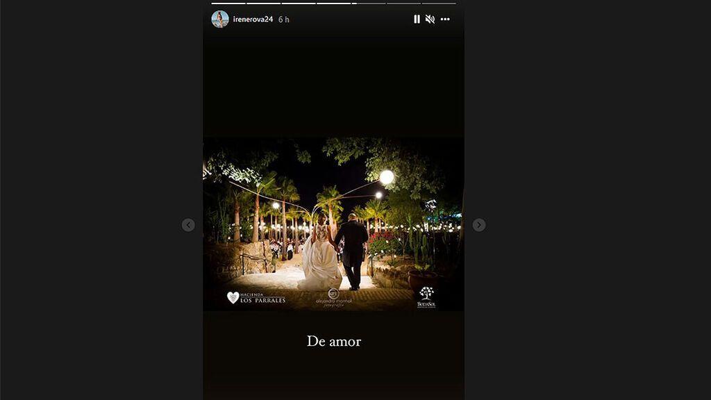 Imagen del Instagram de Irene Rosales