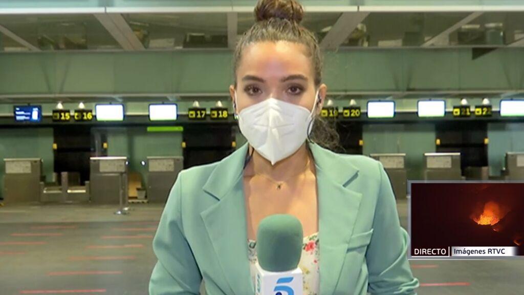 Cancelados los vuelos hoy a La Palma por la ceniza del volcán