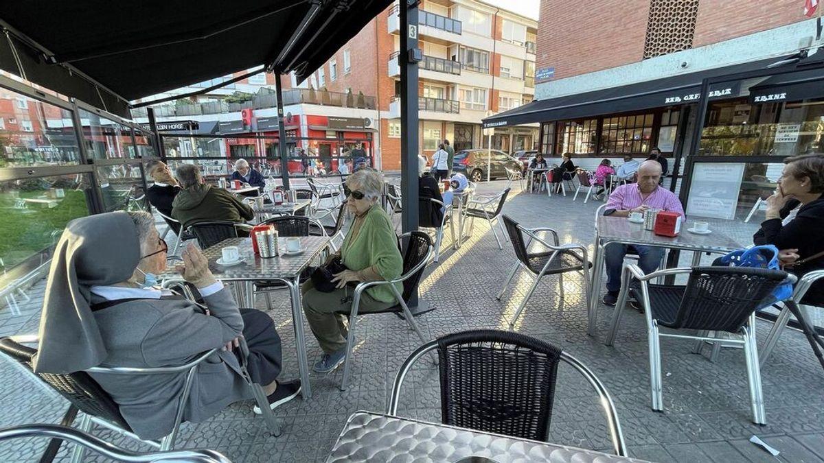 Terraza de bar en el País Vasco