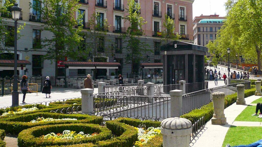 Plaza de Oriente, en Madrid.
