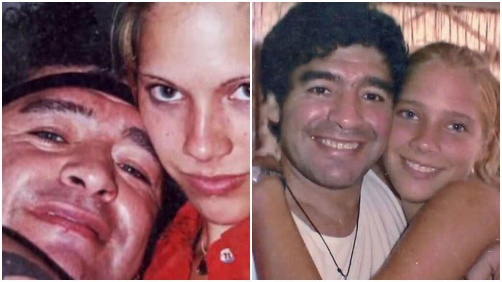 Maradona en la cama con una joven de 16 años