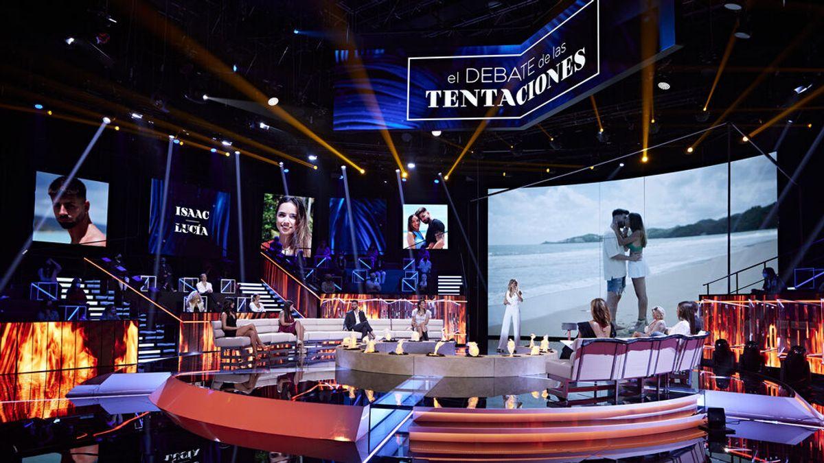 Un avance exclusivo del 'visionado de emergencia' en Villa Playa y la presencia de Bela en plató, en 'El debate de las tentaciones'