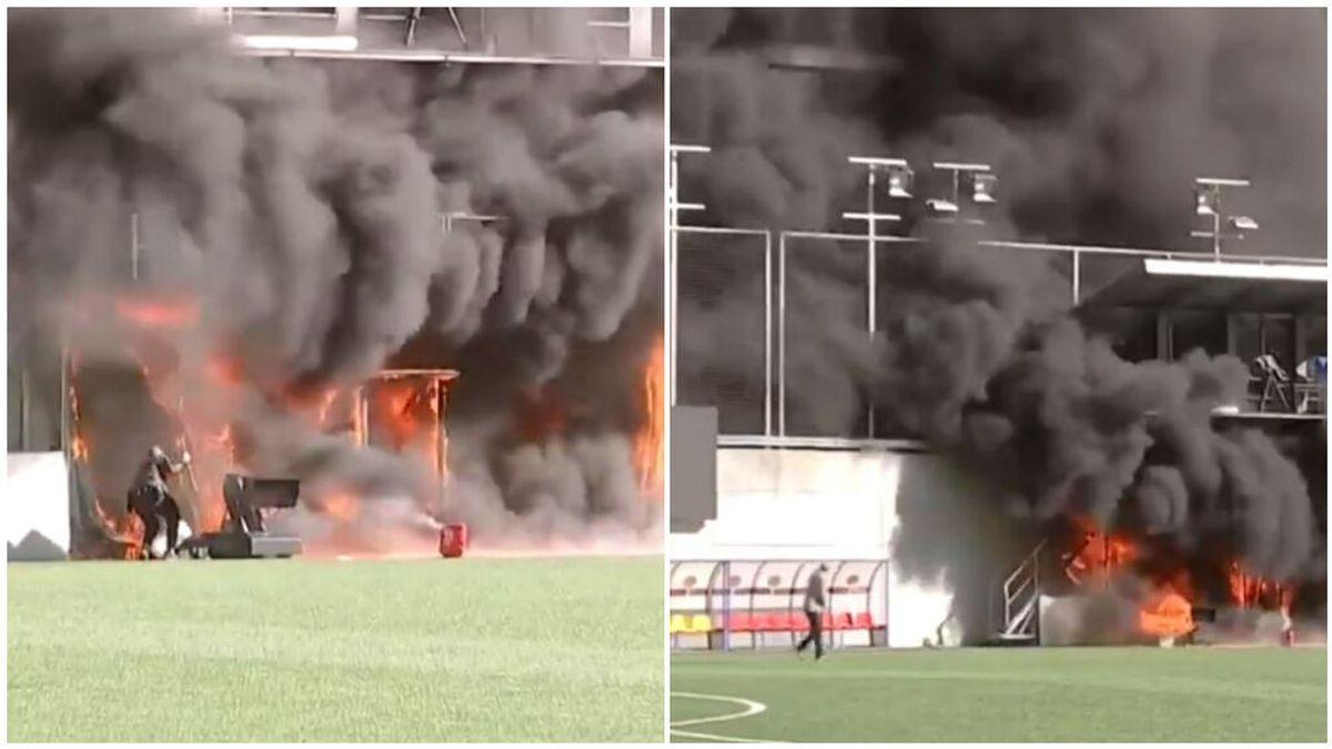El Estadio Nacional de Andorra sale ardiendo: el partido ante Inglaterra podría no jugarse
