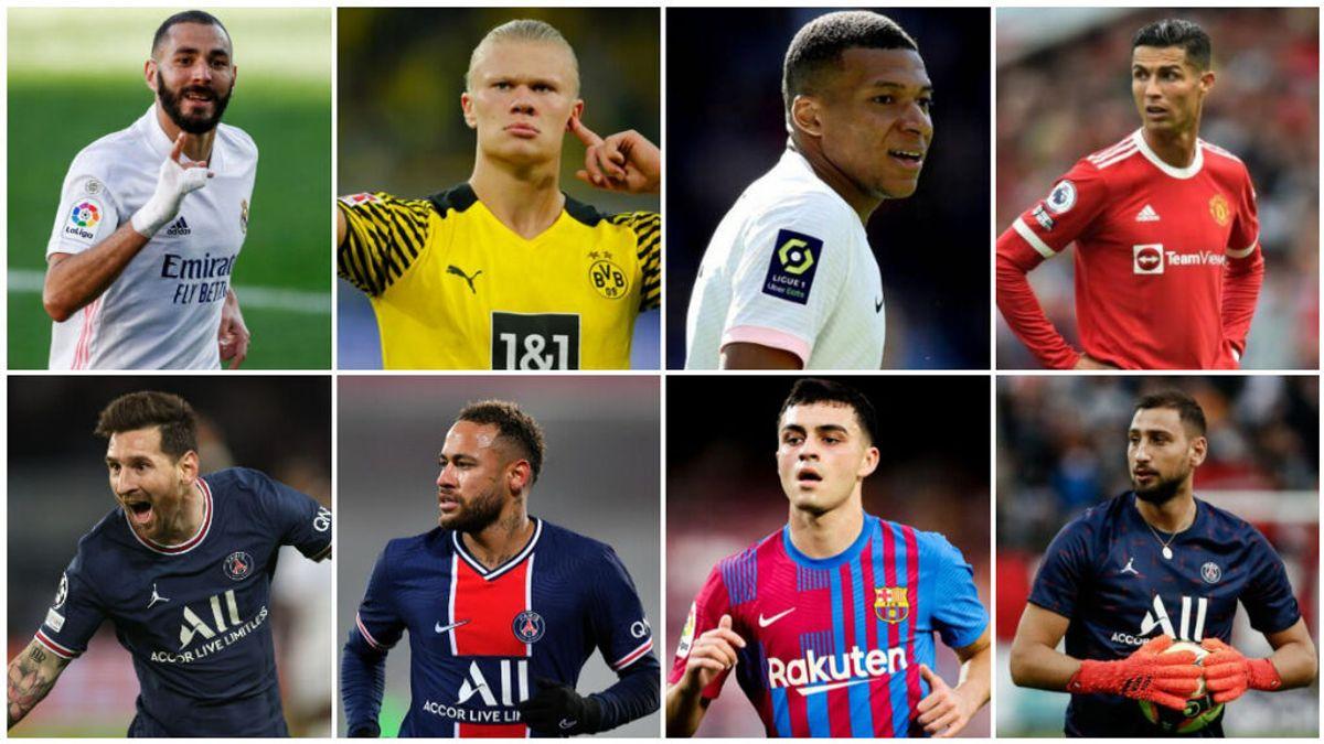 Benzema, Messi, Cristiano Ronaldo o Pedri: la lista completa de aspirantes al Balón de Oro