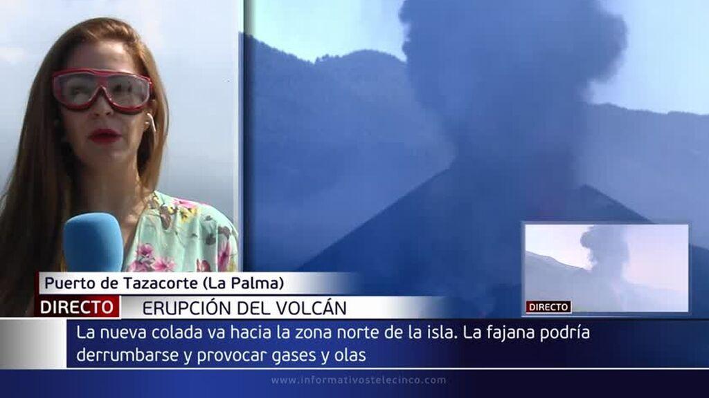 ¿Cómo afectaría la posible ruptura de la fajana del volcán de La Palma a la población?