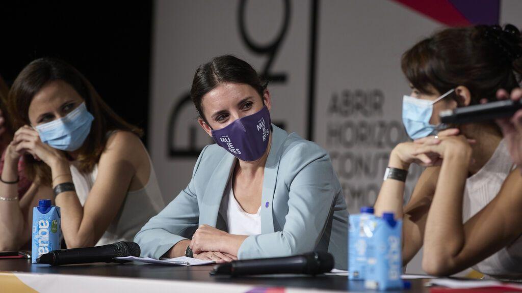 """Montero avisa al PSOE de que la abolición de la prostitución no es solo un """"eslogan"""" y requiere políticas concretas"""