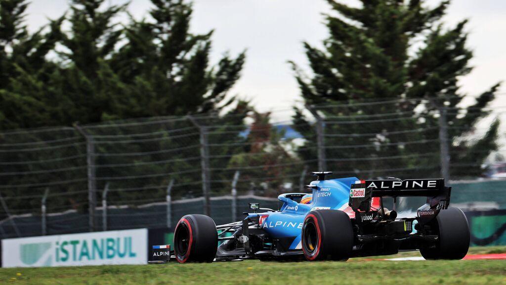 Fernando Alonso acabó muy contento la clasificación del GP de Turquía.