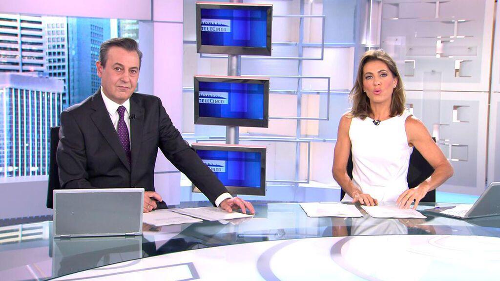 Con José Ribagorda y Ángeles Blanco Informativos Telecinco 2021 Mediodía 09/10/2021