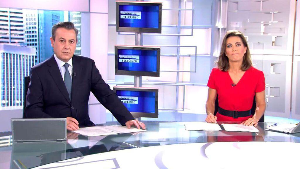 Con José Ribagorda y Ángeles Blanco Informativos Telecinco 2021 Mediodía 10/10/2021