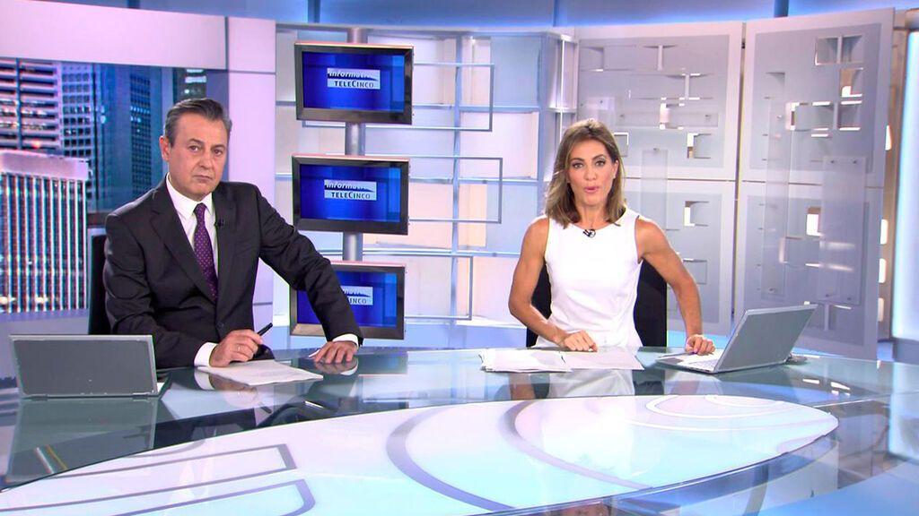 Con José Ribagorda y Ángeles Blanco Informativos Telecinco 2021 Noche 09/10/2021