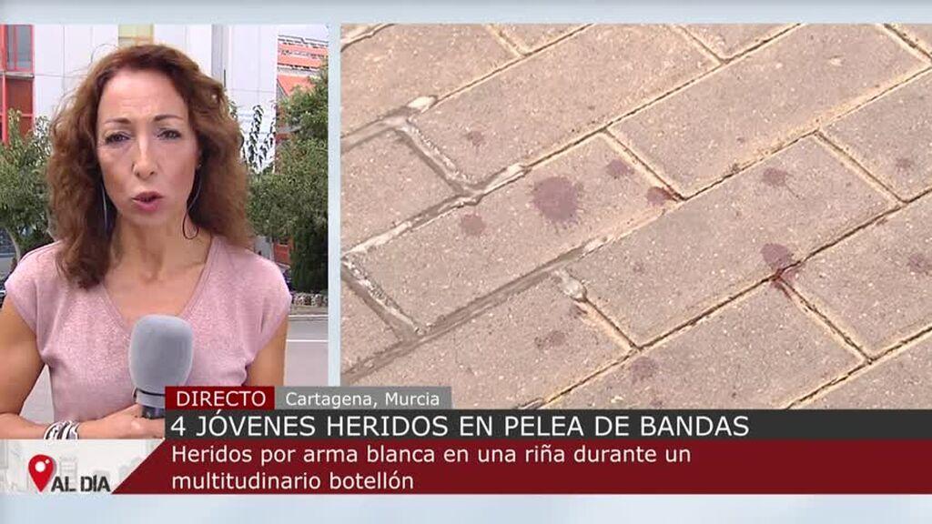 Un macrobotellón termina con cuatro heridos por apuñalamiento en Cartagena