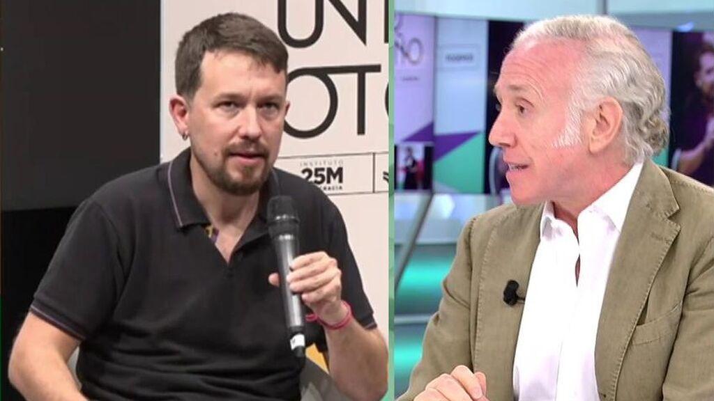 Eduardo Inda critica abiertamente el cambio de voz de Pablo Iglesias