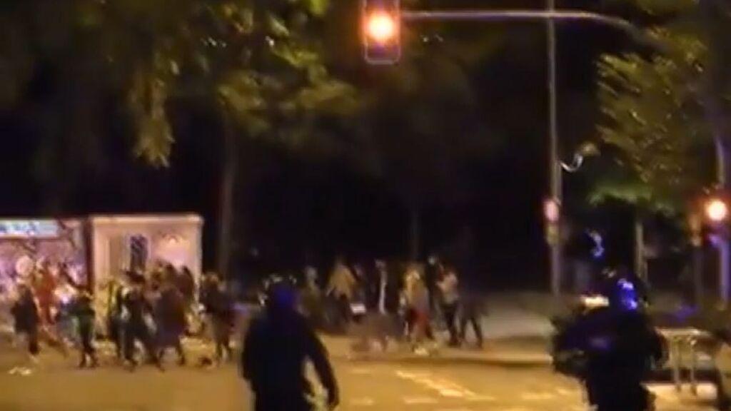 Violencia callejera y vandalismo en la noche madrileña