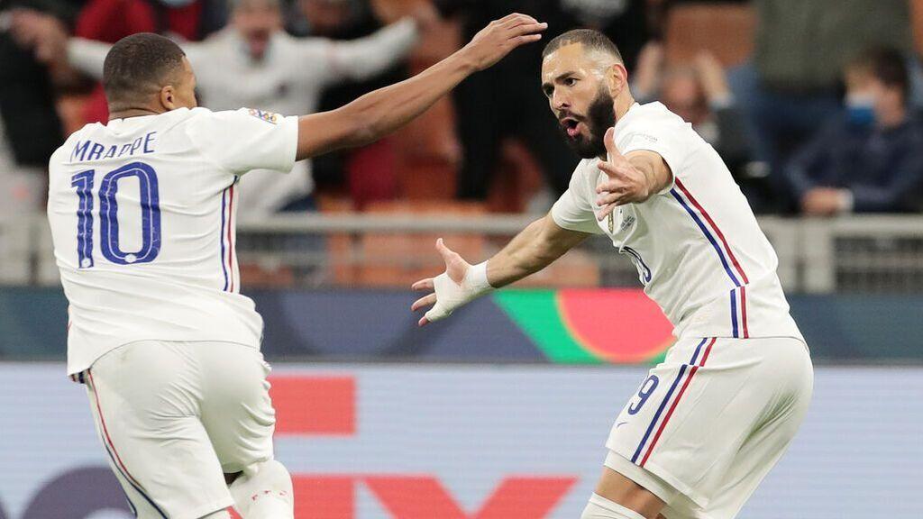 Benzema y Mbappé marcaron los goles de Francia en la final