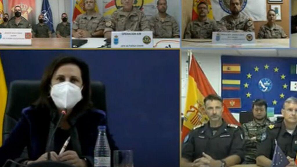 Margarita Robles felicita a las tropas