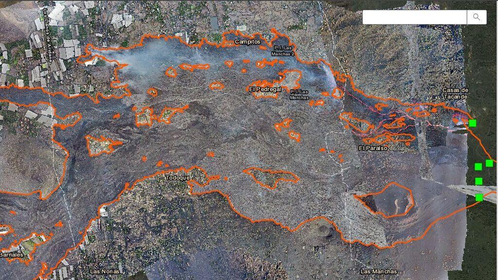 Buscador de casas destruidas por la lava en La Palma