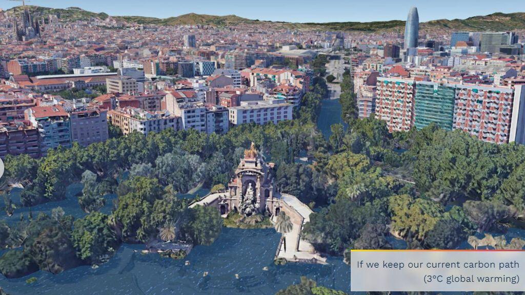 Aumento del nivel del mar en Barcelona