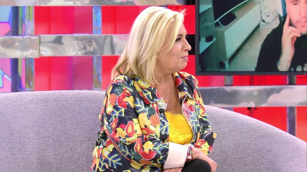 Carmen Borrego, en el plató de 'Sálvame'