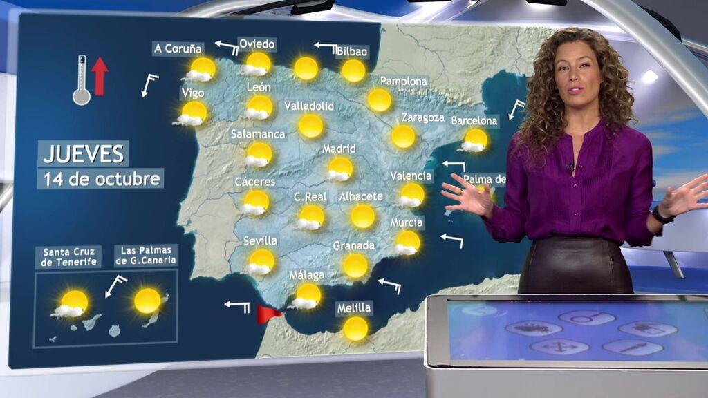Media España dormirá a menos de 10 grados: el tiempo que va a hacer el jueves