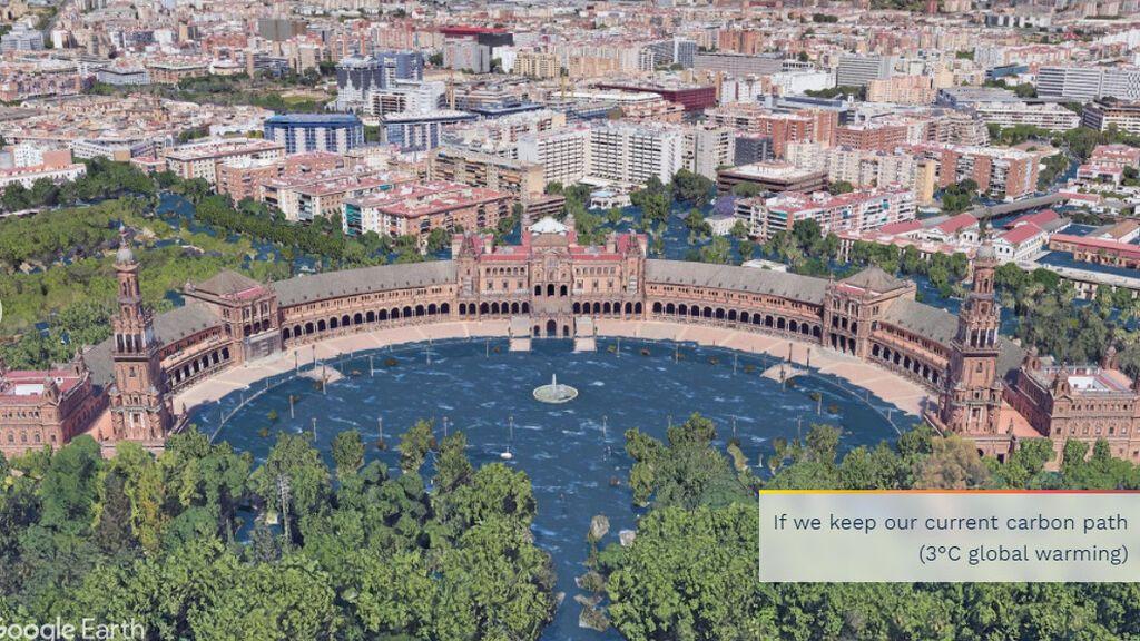 Aumento del nivel del mar en Sevilla