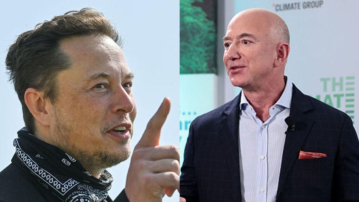 Elon Musk 'trolea' a Jeff Bezos recordándole quién es ahora el más rico del mundo