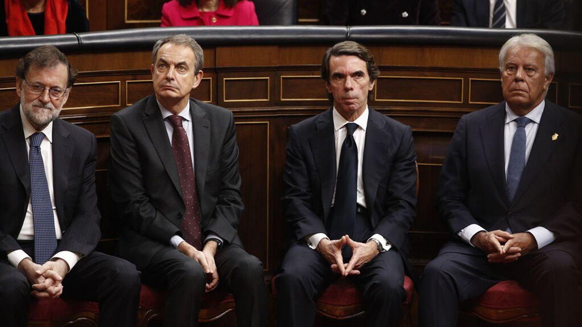 González, Aznar, Zapatero y Rajoy volverán a recibir 75.000 euros anuales de los Presupuestos