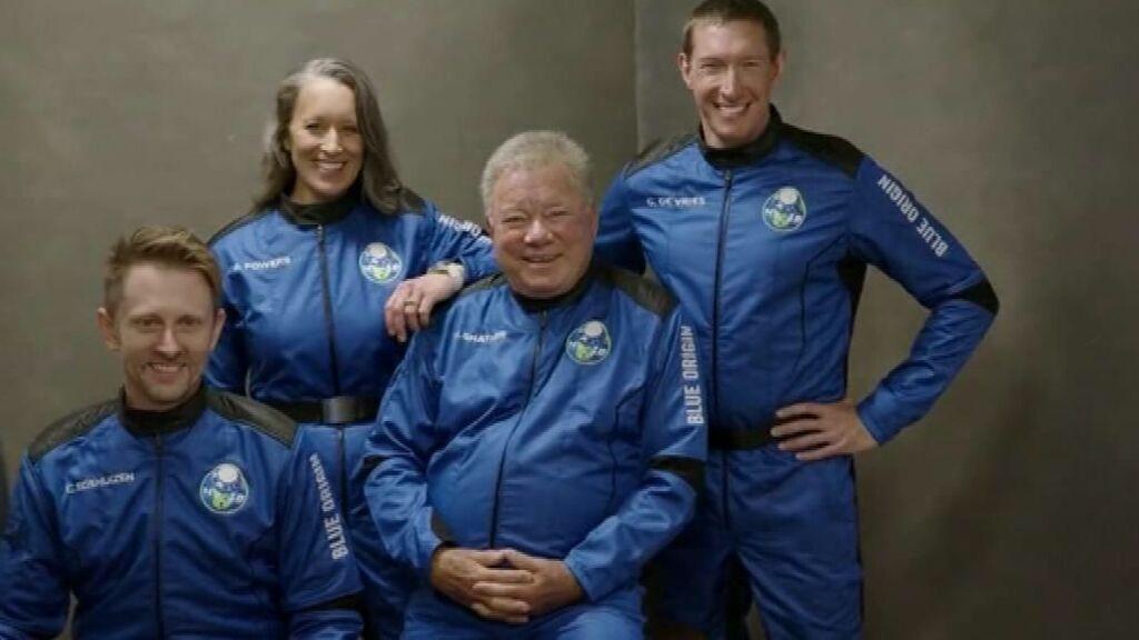 El protagonista de 'Star Trek', pasajero récord de la nueva viaje de Blue Origin al espacio programado hoy