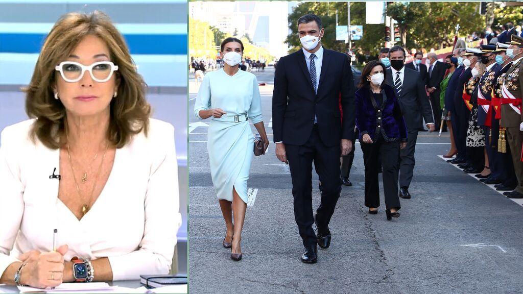 El zasca de Ana Rosa a Pedro Sánchez tras el desfile