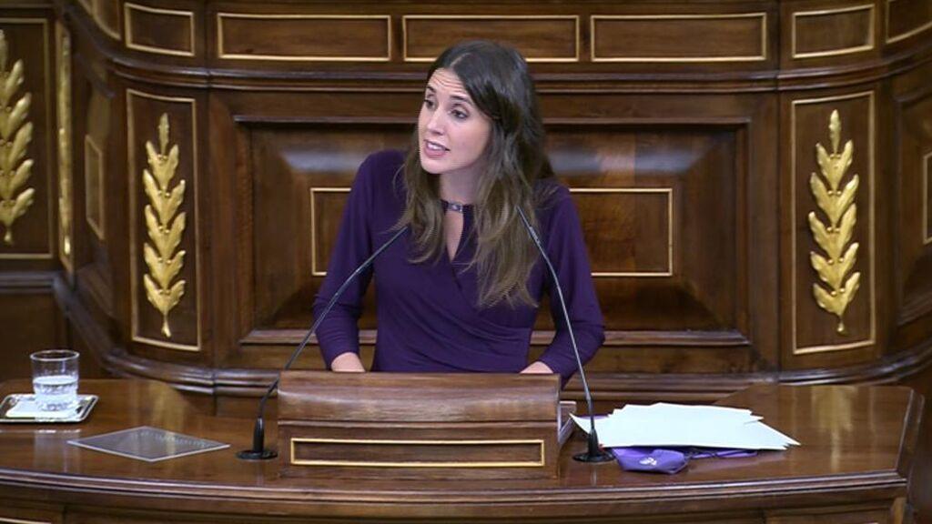 El discurso de Irene Montero denunciando las preguntas que culpabilizan a las mujeres violadas