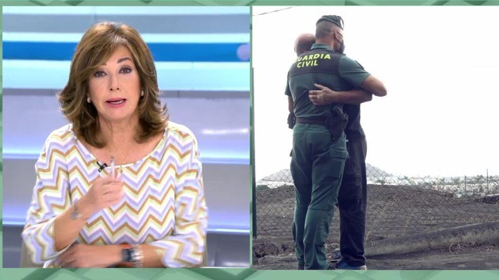 Ana Rosa, emocionada con el trabajo de la Guardia Civil en La Palma